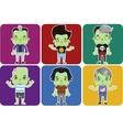 Male Zombie Avatar set vector image