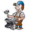 Happy Blacksmith Worker vector image