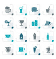 stylized beverages and drink icons vector image