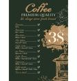 menu for coffee grinder vector image