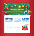 Christmas gift shop template vector image vector image