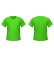 Realistic green t-shirt vector image