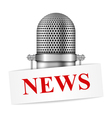 Microphone with News vector image