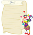 Clown on white vector image