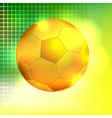 Abstract golden soccer ball background vector image