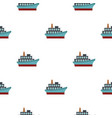 big ship pattern flat vector image