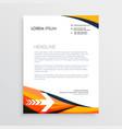 Business letterhead creative design in orange vector image