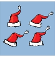 cartoon red Santa hat vector image
