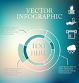 infographic pie charts over colorful blurred vector image