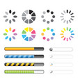 loading and buffering icon set vector image