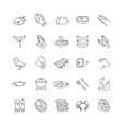 meat and fish icons vector image