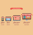 online shopping concept in flat style infographic vector image