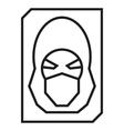 Hacker avatar web internet icons vector image