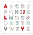 Christmas textile font vector image