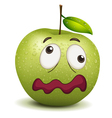 dull apple smiley vector image
