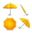 Yellow Umbrella Template Set vector image