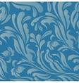 Vintage blue floral background vector image