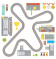 Gaming Race Track Composition vector image
