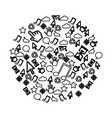 contour technological sign icons vector image