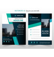 Blue black abstract annual report brochure design vector image