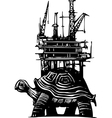 Turtle Oil Rig vector image