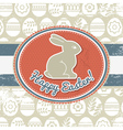 grunge background with easter eggs and rabbit vector image