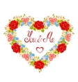 Floral frame in the shape of heart Design element vector image