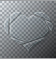 modern concept broken heart glass on vector image