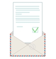 Open blank airmail envelope vector image