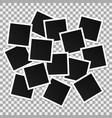 set of square photo frames collage of vector image