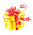 watercolor of gift box vector image