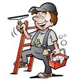 Happy Window Cleaner vector image