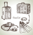 Travel set hand drawn vector image