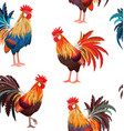 fashion seamless texture with colorful roosters vector image vector image