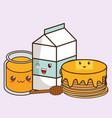 kawaii food icon image vector image