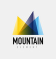 mountain logo geometric design vector image