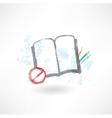No book grunge icon vector image vector image