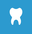 tooth icon white on the blue background vector image