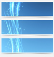Bright swoosh smooth wave web header collection vector image