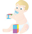 baby playing vector image
