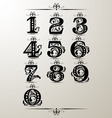 decorative number element vector image