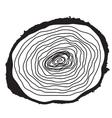Stump Muzzle Cut of Tree vector image vector image