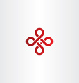 abstract knot red icon logo vector image