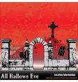 the halloween graveyard vector image