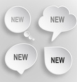 New White flat buttons on gray background vector image vector image