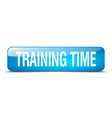 training time blue square 3d realistic isolated vector image
