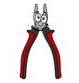 Cartoon pliers tool vector image
