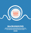 drum sign icon Blue and white abstract background vector image