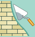 plastering the brick wall vector image