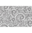 Seamless pattern with traditional oriental floral vector image